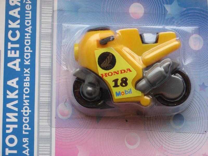 """Иллюстрация 1 из 7 для Точилка детская """"Мотоцикл"""" (ES-851 EaSTar)   Лабиринт - канцтовы. Источник: Dana-ja"""