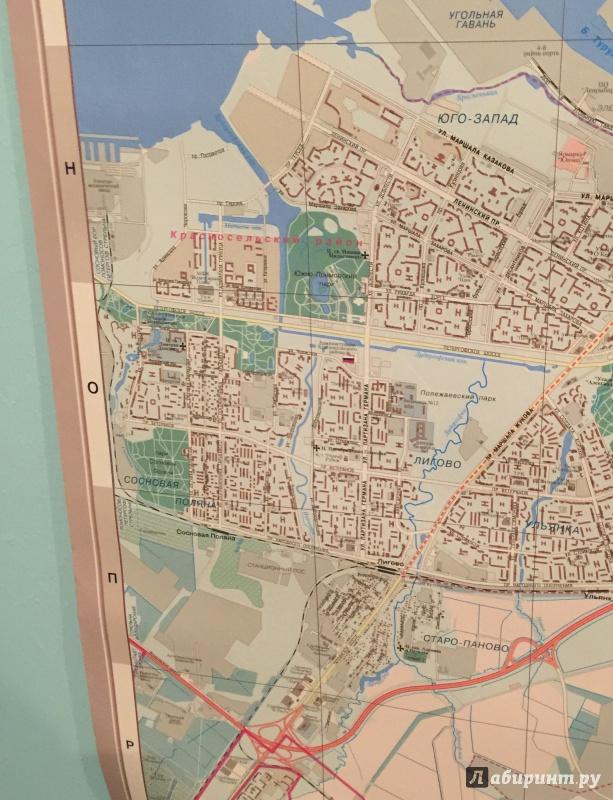 Иллюстрация 1 из 4 для Санкт-Петербург. Настенная карта | Лабиринт - книги. Источник: Р  Татьяна