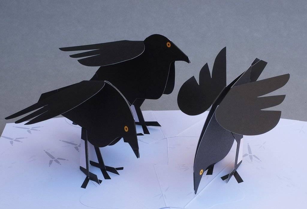 картинка своими руками ворона уточнить