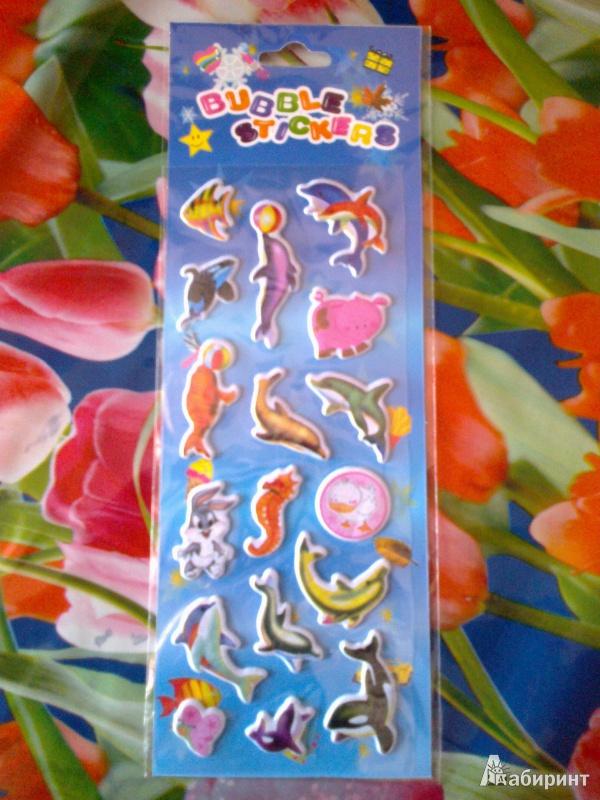 Иллюстрация 1 из 7 для Наклейки детские объемные Bubble Stickers (в ассортименте) | Лабиринт - игрушки. Источник: zara