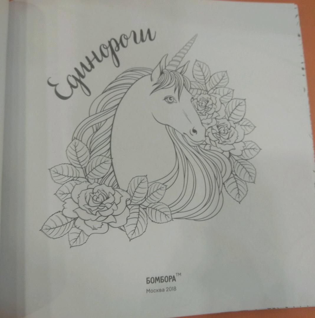 Иллюстрация 17 из 41 для Единороги. Раскраска-антистресс ...