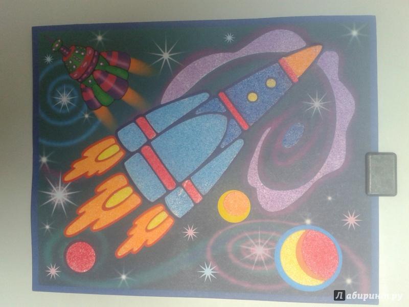 Снов открытки, картинки с аппликациями ко дню космонавтики