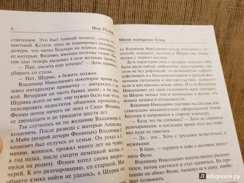 Иллюстрация 6 из 11 для Меню холодных блюд - Яна Розова   Лабиринт - книги. Источник: Алексей Гапеев