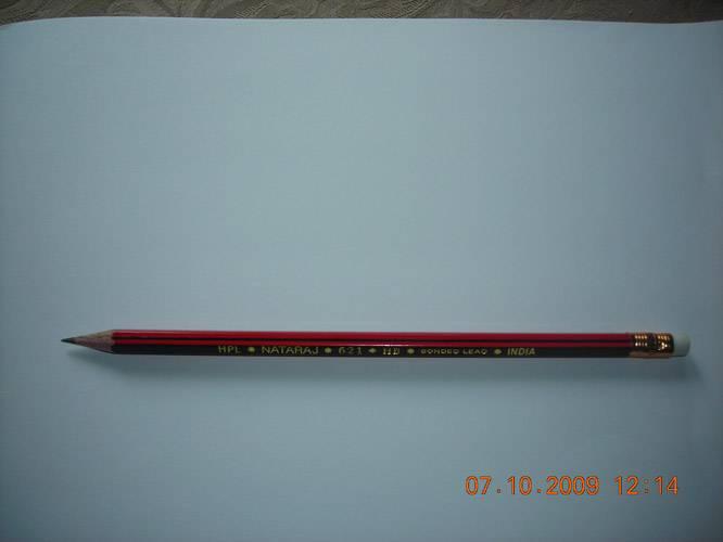 Иллюстрация 1 из 2 для Карандаш чернографитный, с ластиком NATARAJ HB (621 HPL-01K01(201154001)) | Лабиринт - канцтовы. Источник: Плахова  Татьяна