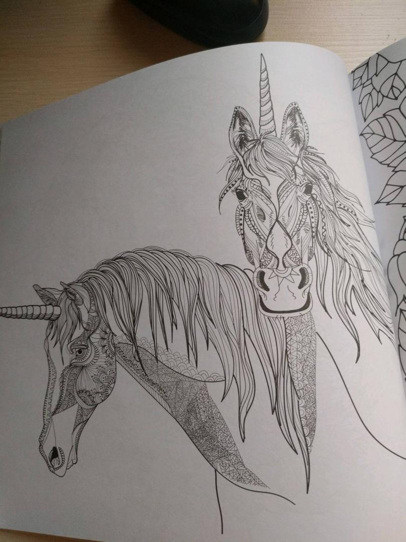 Иллюстрация 34 из 41 для Единороги. Раскраска-антистресс ...
