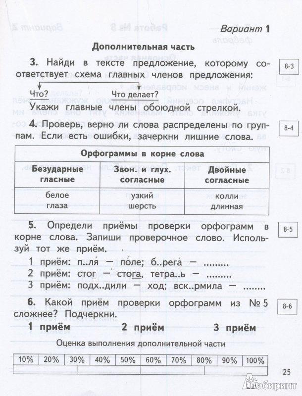 Диагностические и контрольные работы по русскому языку 4336