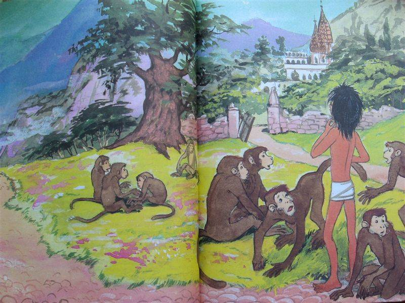 Картинки из книги маугли киплинга