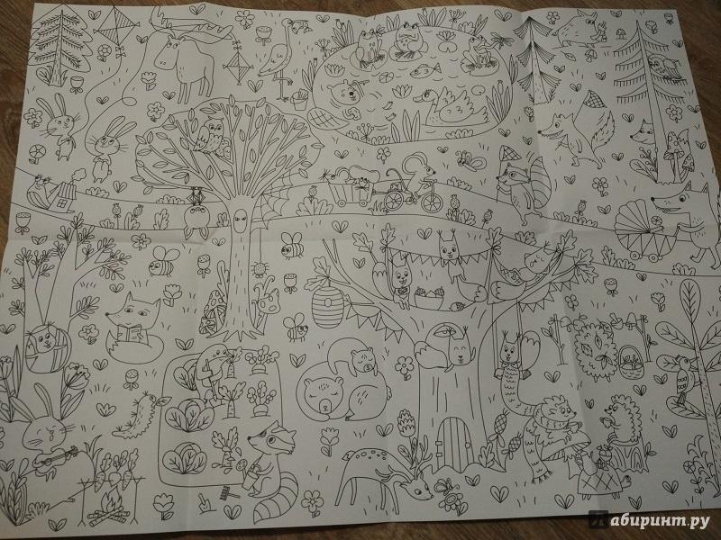 Иллюстрация 5 из 19 для Сказочный лес. Раскраска-плакат ...