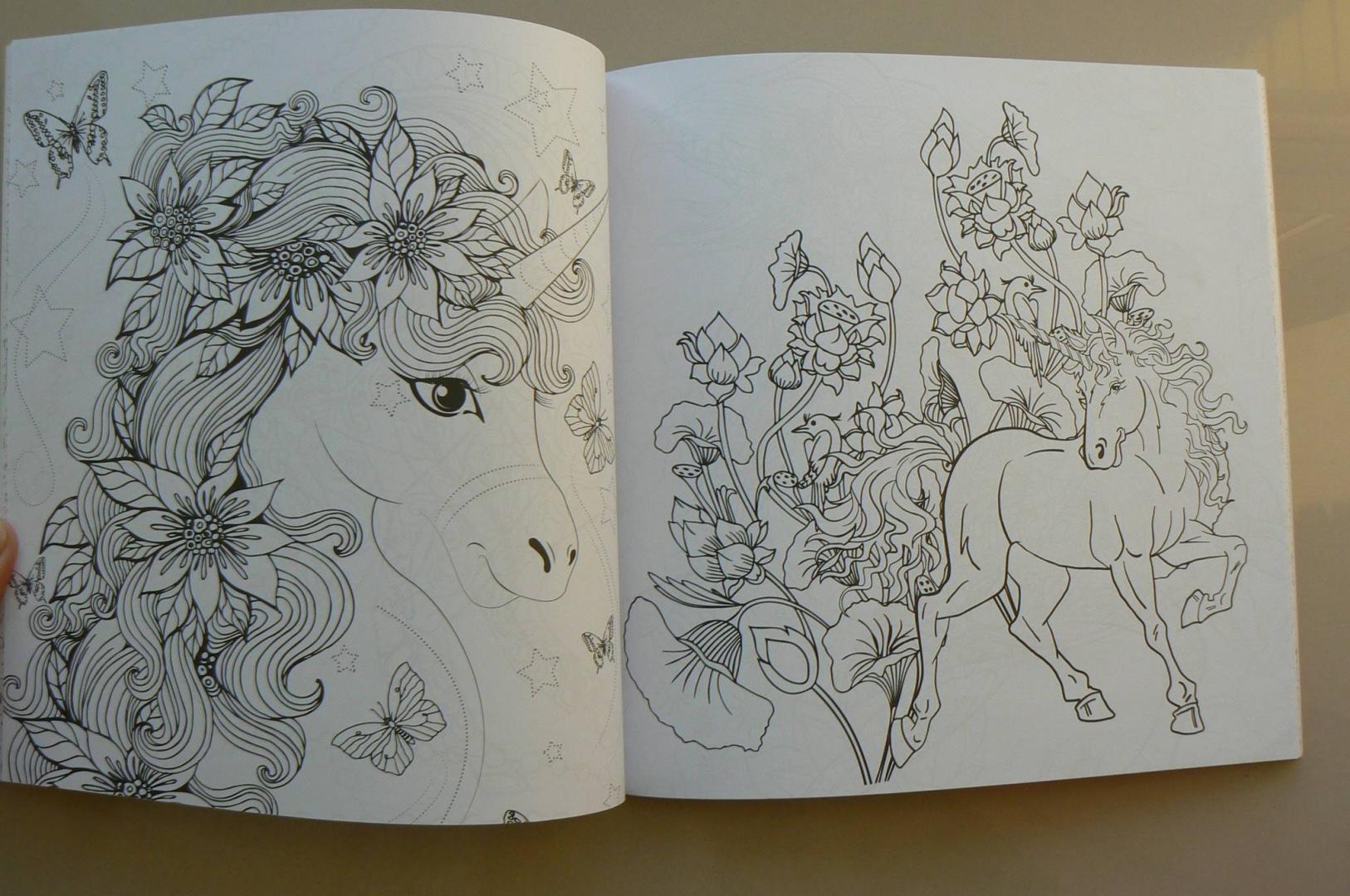 Иллюстрация 38 из 41 для Единороги. Раскраска-антистресс ...