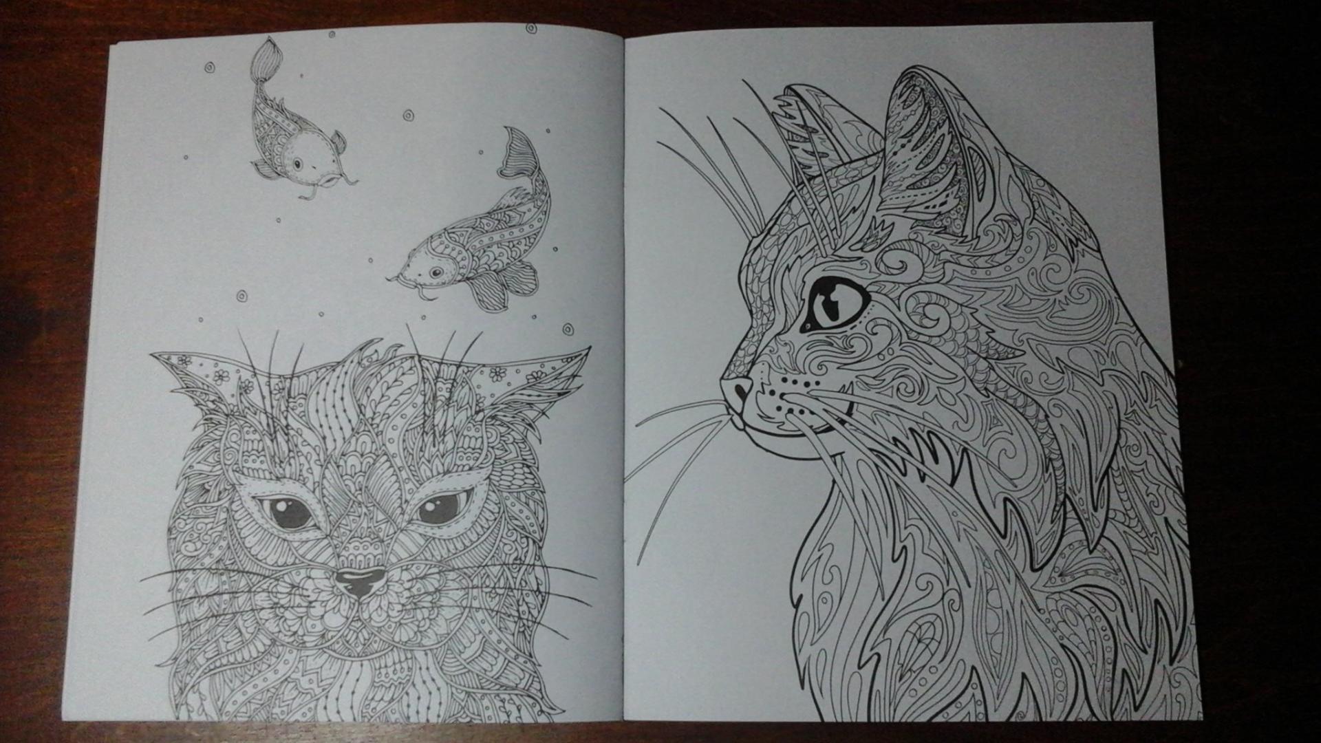 Иллюстрация 9 из 9 для Cats-2. Творческая раскраска ...