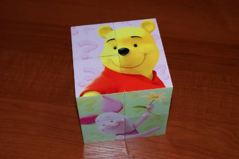 """Иллюстрация 2 из 13 для Магнитные кубики-пазлы """"Мои друзья Тигр и Пух"""" (8 кубиков, 12 пазлов) (14065)   Лабиринт - игрушки. Источник: Blossom"""