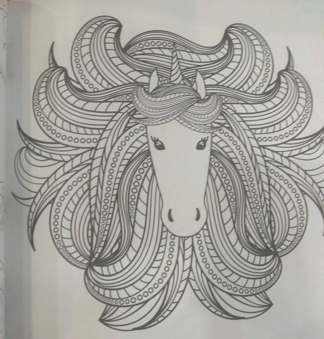 Иллюстрация 13 из 41 для Единороги. Раскраска-антистресс ...