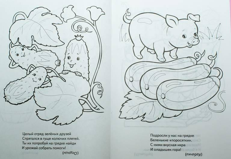 Картинки раскраски для книжки малышки