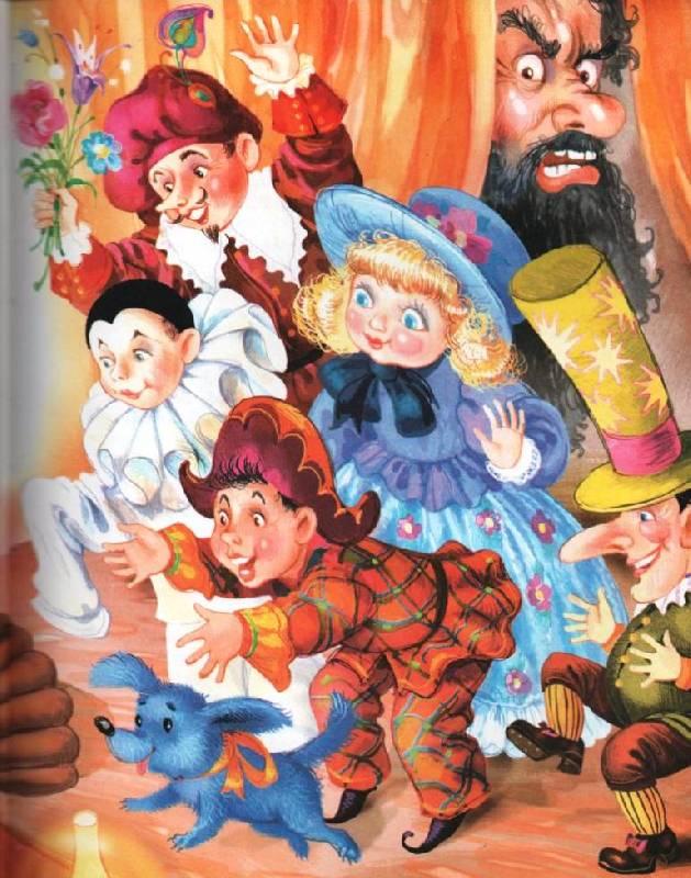 Картинки из сказки о золотом ключике