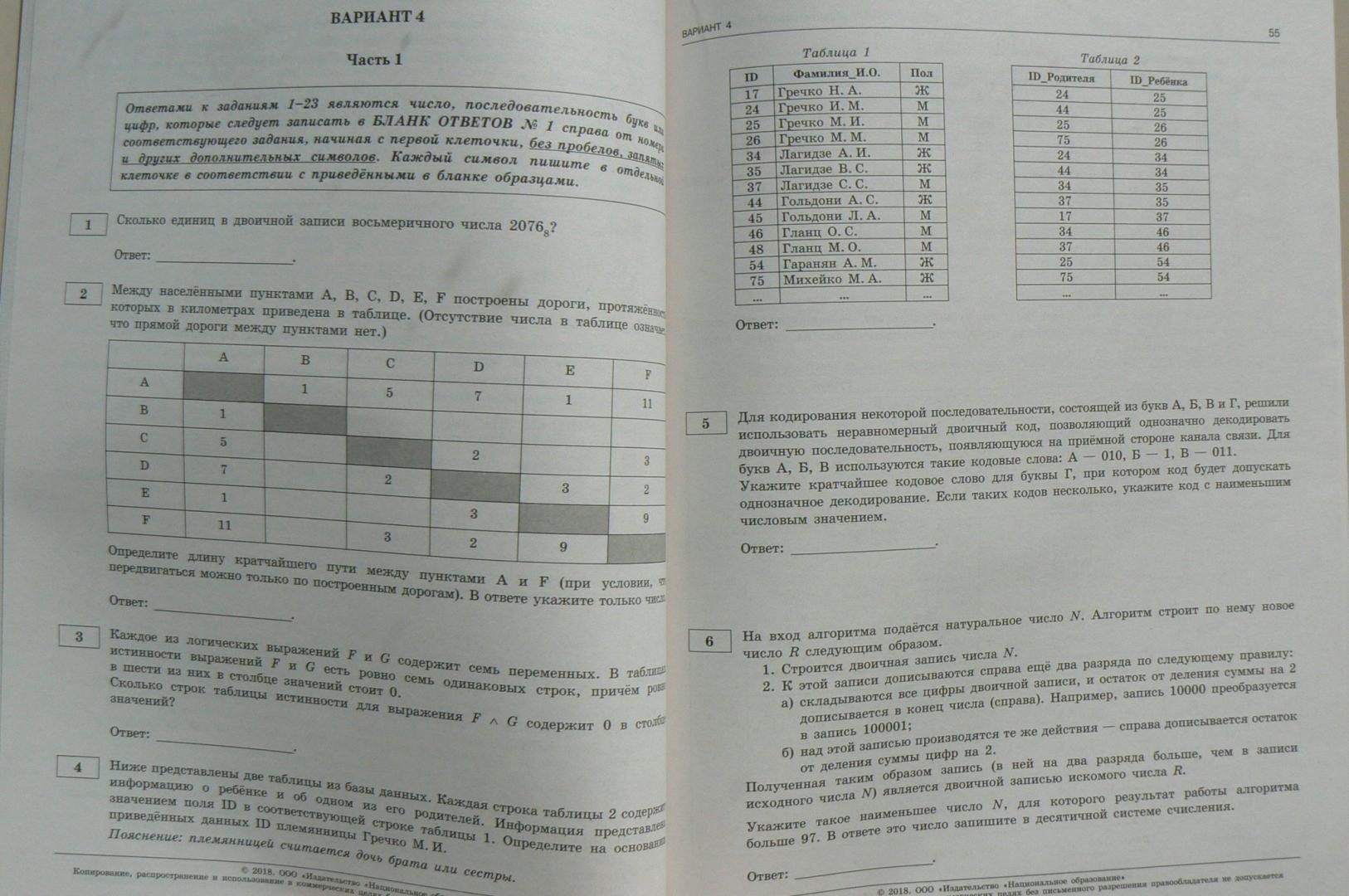Решение типовых экзаменационных задач по информатике задачи по алгебре с решением и ответами