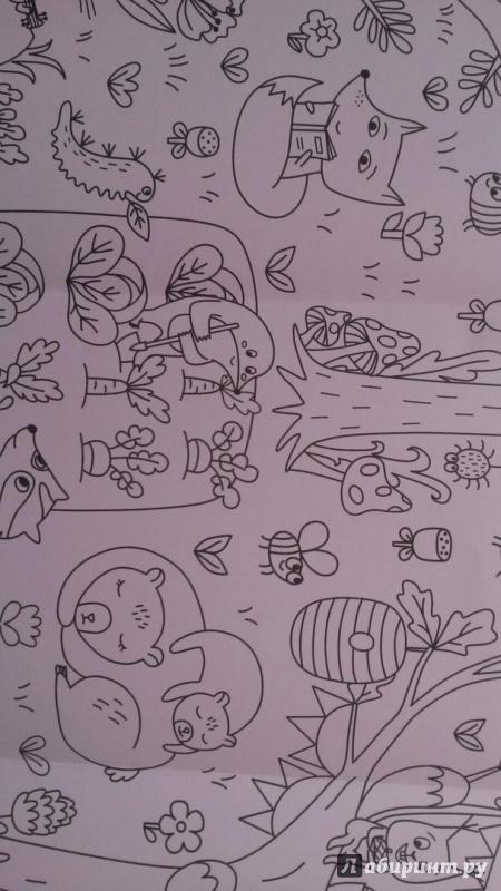 Иллюстрация 14 из 20 для Сказочный лес. Раскраска-плакат ...