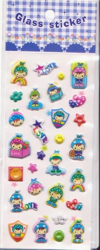 Иллюстрация 1 из 9 для Наклейки детские объемные Glass sticker. В ассортименте | Лабиринт - игрушки. Источник: Ёжик