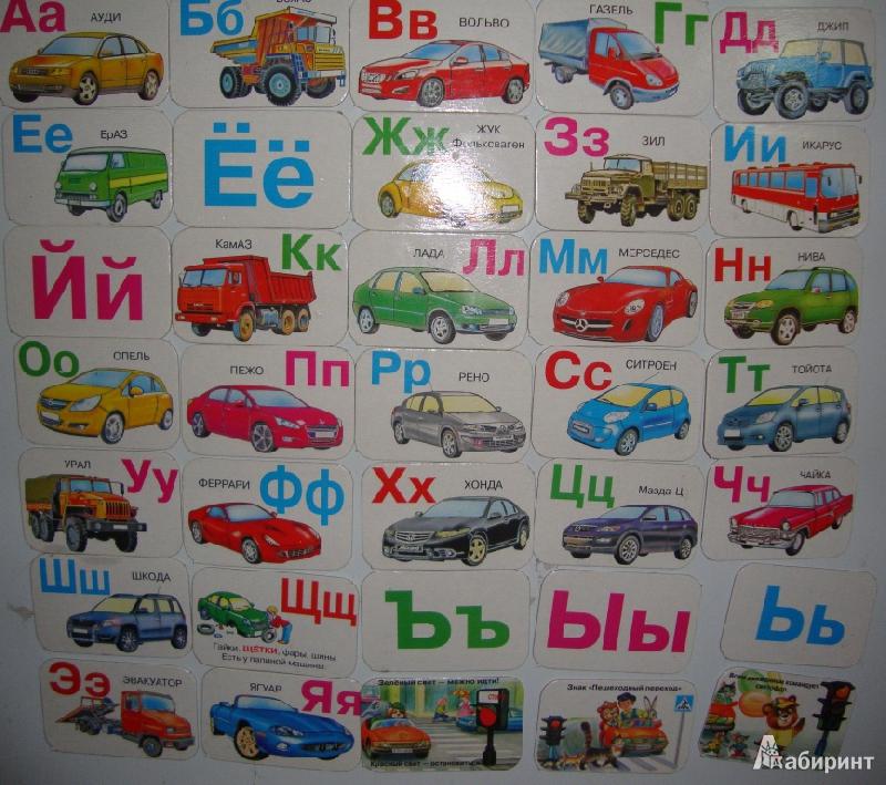 машины по алфавиту с картинками может быть любого