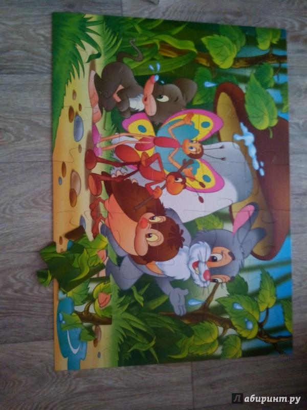 """Иллюстрация 1 из 17 для MAXI пазл """"Под грибом"""" (35 элементов) (91302)   Лабиринт - игрушки. Источник: Cat19"""
