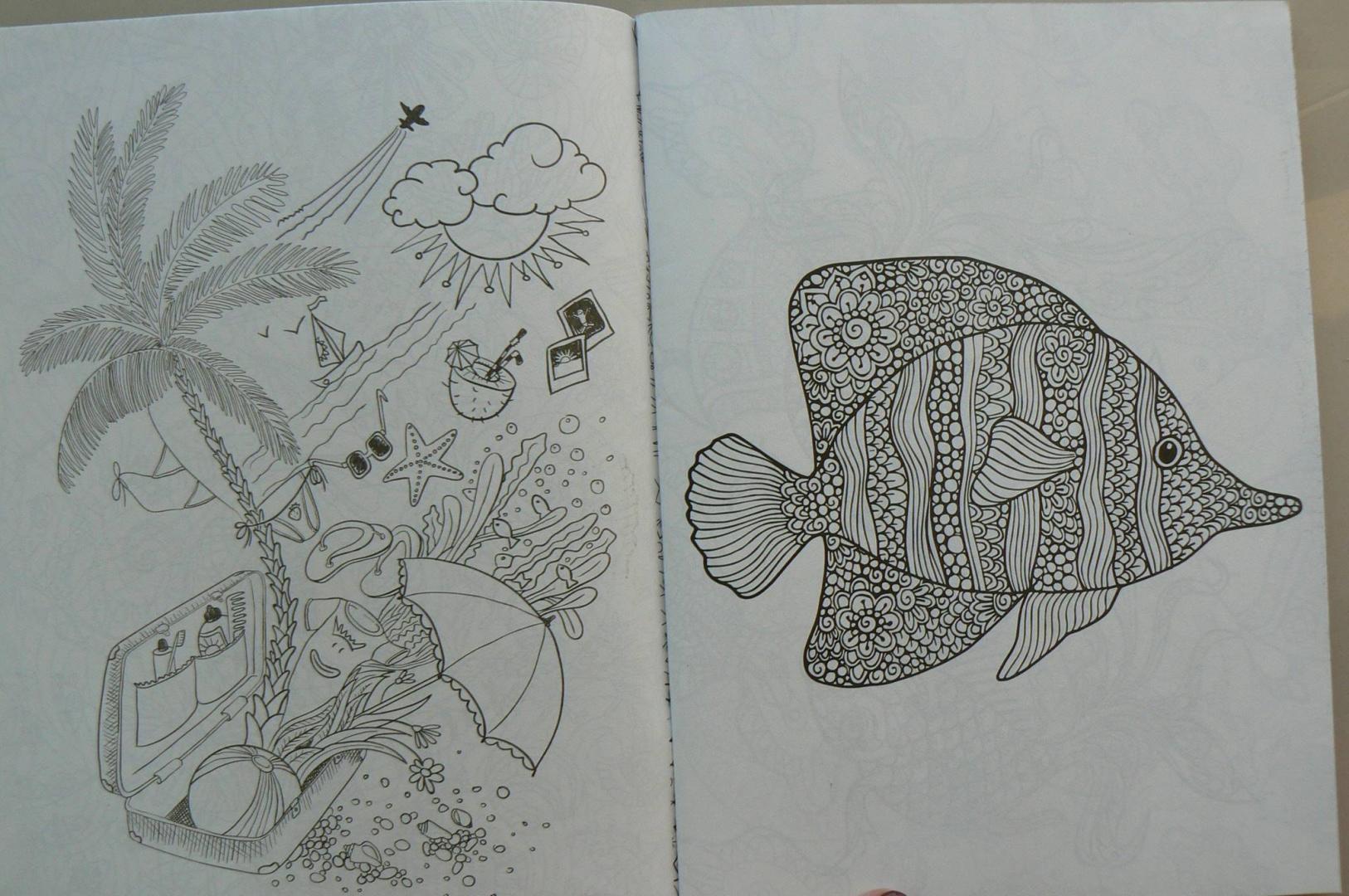 Иллюстрация 3 из 21 для Море сокровищ. Раскраска для ...