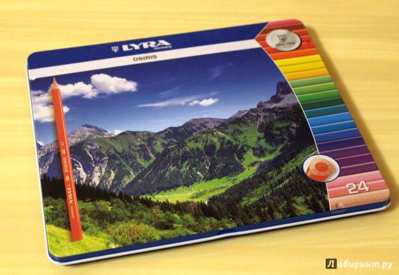 Иллюстрация 2 из 8 для Карандаши цветные в металлической коробке (24 цвета) (2521253) | Лабиринт - канцтовы. Источник: E.B.