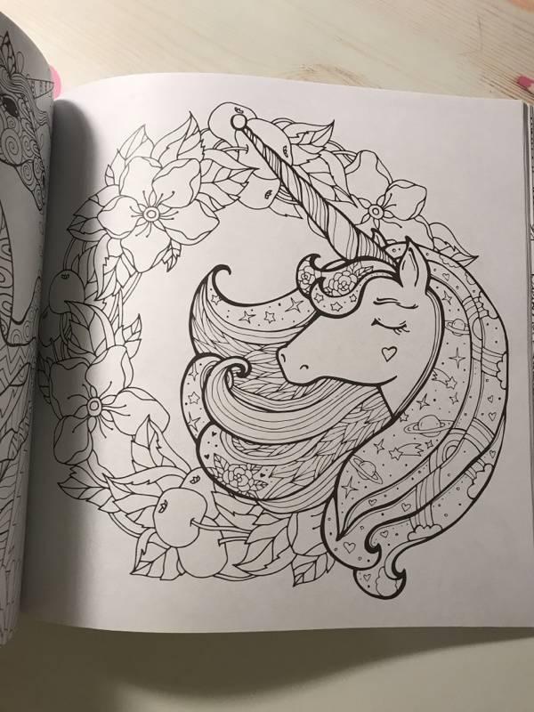 Иллюстрация 24 из 42 для Единороги. Раскраска-антистресс ...