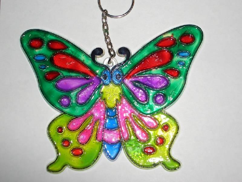 Иллюстрация 1 из 3 для Витраж средний: Бабочка | Лабиринт - игрушки. Источник: sher