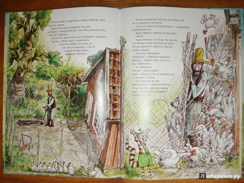 Иллюстрация 47 из 57 для Переполох в огороде - Свен Нурдквист | Лабиринт - книги. Источник: juka-julia