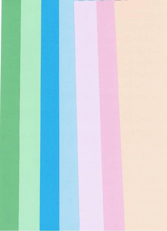 Иллюстрация 1 из 9 для Бумага цветная 12 листов, 12 цветов для аппликации и оригами (двусторонняя) (ЦБ-007) | Лабиринт - канцтовы. Источник: Лесная!