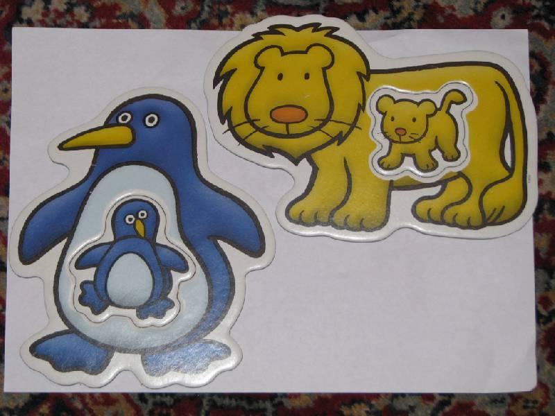 """Иллюстрация 2 из 2 для Пазл """"Животные и их семьи"""" (13622)   Лабиринт - игрушки. Источник: Мышкаaa"""