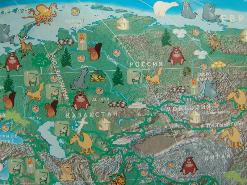 Иллюстрация 8 из 17 для Говорящая карта мира (6249) | Лабиринт - игрушки. Источник: Лаванда