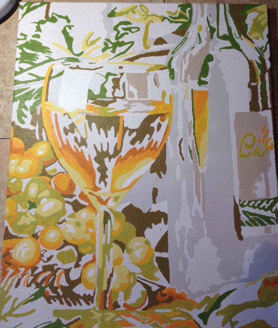 """Иллюстрация 8 из 11 для Раскраска по номерам """"Белое вино ..."""