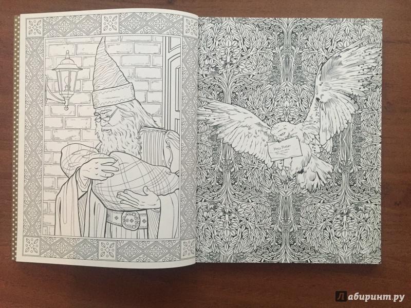 иллюстрация 7 из 46 для гарри поттер волшебная раскраска