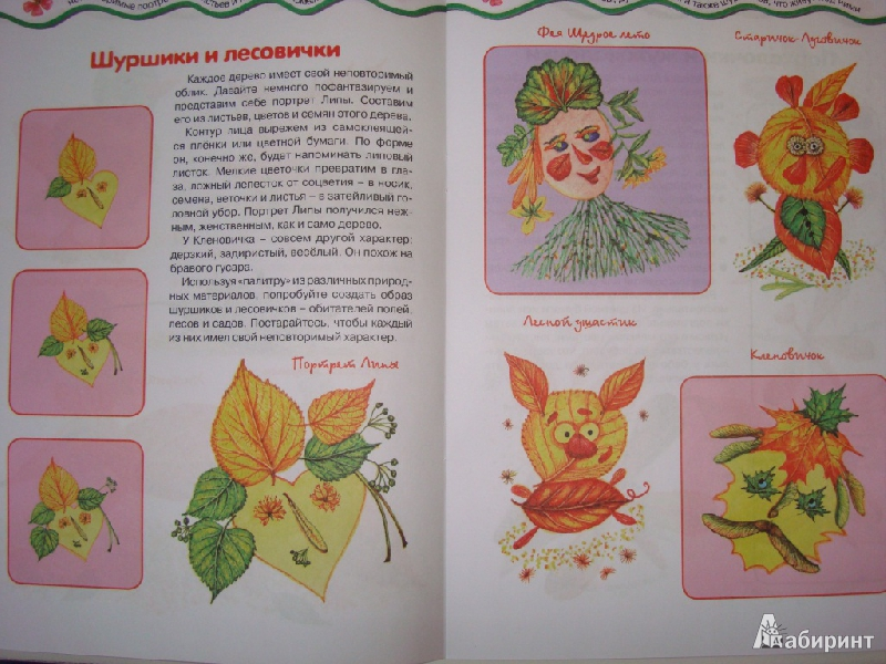 Иллюстрация 3 из 22 для Мастерилка № 7. Листья, травы, семена. Аппликация из листьев - Татьяна Рогаткина   Лабиринт - книги. Источник: Ирчик