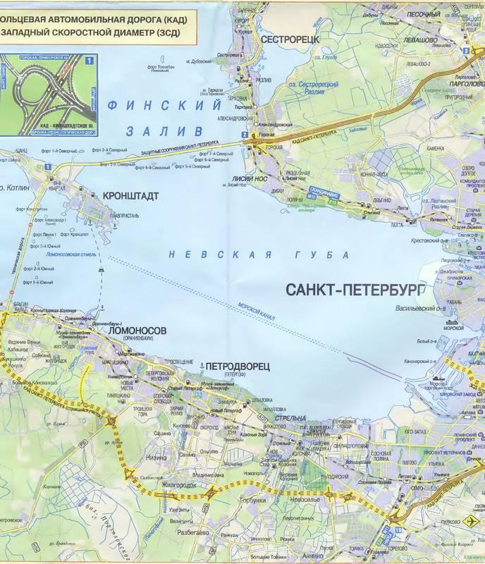Иллюстрация 1 из 5 для 1800 улиц и проспектов: Санкт-Петербург. Автодорожная карта | Лабиринт - книги. Источник: Ялина