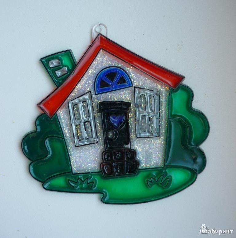 Иллюстрация 2 из 7 для Витраж малый: Домик | Лабиринт - игрушки. Источник: Капитан Африка