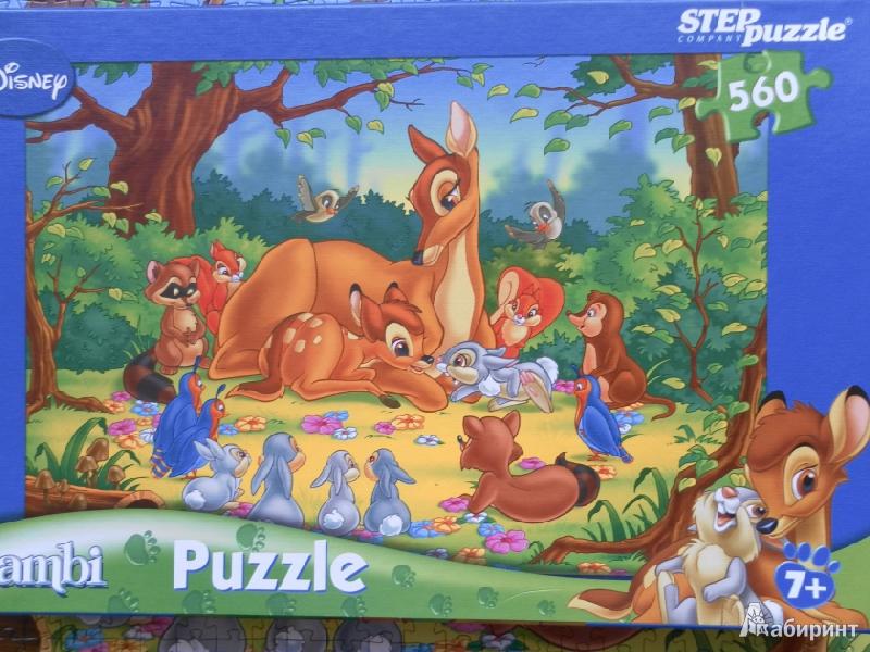 Иллюстрация 1 из 5 для Step Puzzle-560 Бемби с мамой (97007) | Лабиринт - игрушки. Источник: Катрин7