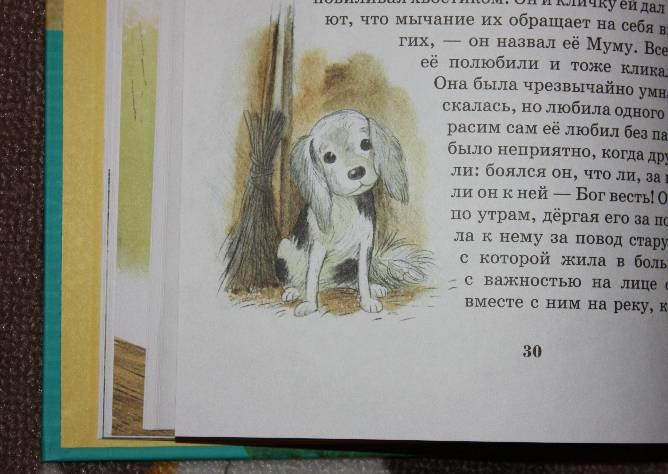 Рассказ муму с картинками распечатать в виде книги