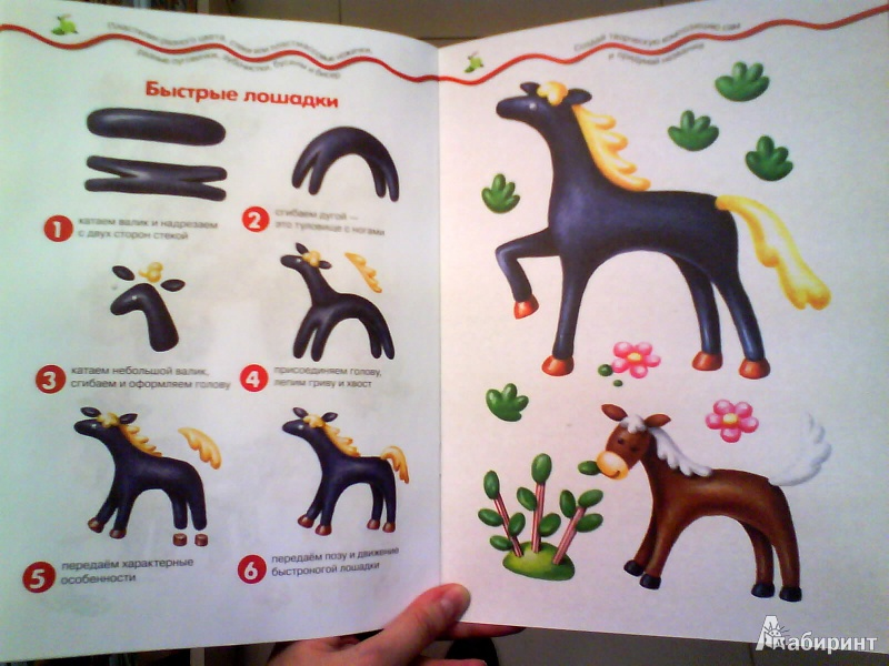 картинки как слепить из пластилина лошадь поэтапно заяц оригинальный