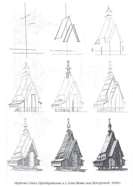 популярен картинки церкви пошаговое предназначено для людей