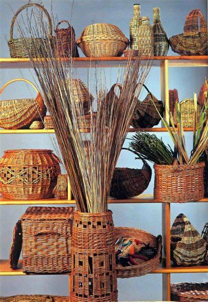 Декоративные изделия из лозы фото