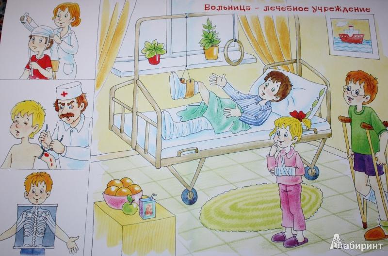 Детские рисунки на тему больница