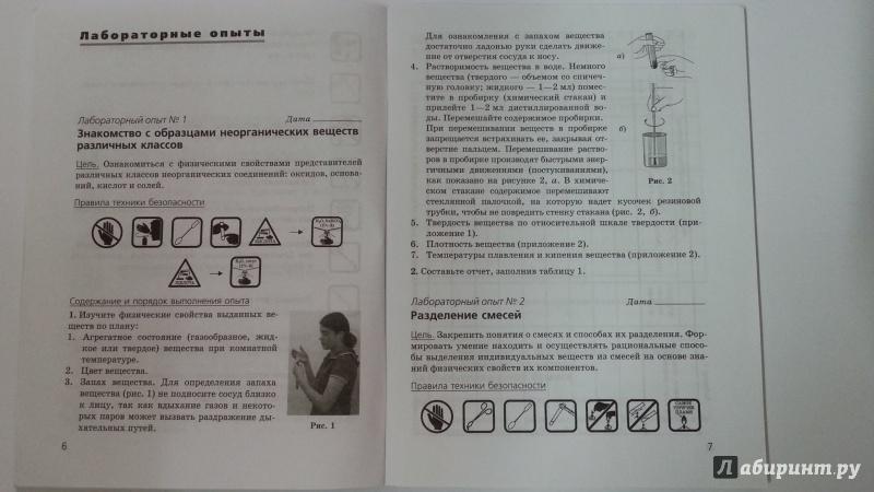 Иллюстрация 6 из 13 для Химия. 8 класс. Тетрадь для лабораторных опытов и практических работ к учебнику О. Габриеляна - Габриелян, Купцова | Лабиринт - книги. Источник: Jesse