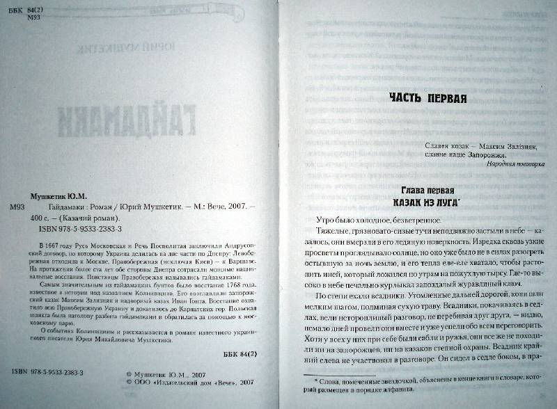 Иллюстрация 1 из 2 для Гайдамаки - Юрий Мушкетик | Лабиринт - книги. Источник: Мефи