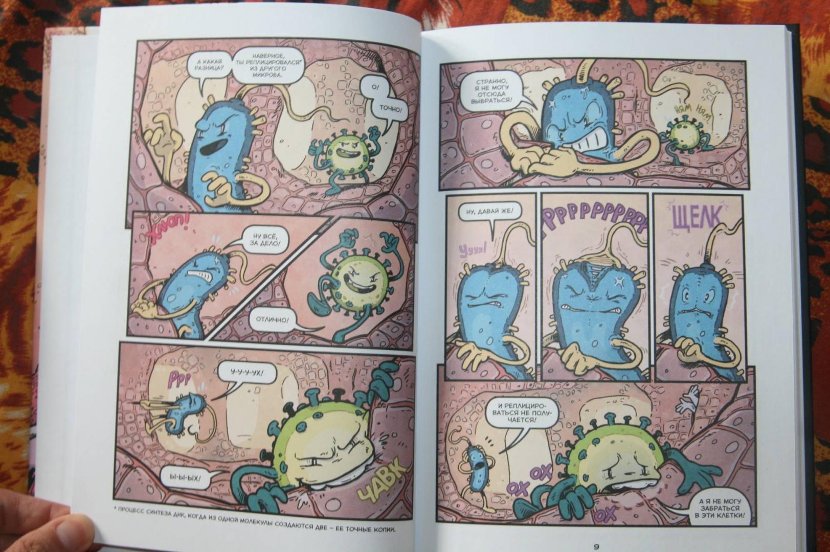Иллюстрация 18 из 31 для Вирусы и микробы. Научный комикс - Фалинн Кох | Лабиринт - книги. Источник: Кабанова  Ксения Викторовна