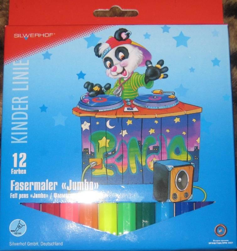 """Иллюстрация 1 из 3 для Фломастеры """"Jumbo"""" 12 цветов Panda (861227-03)   Лабиринт - канцтовы. Источник: Марийка"""
