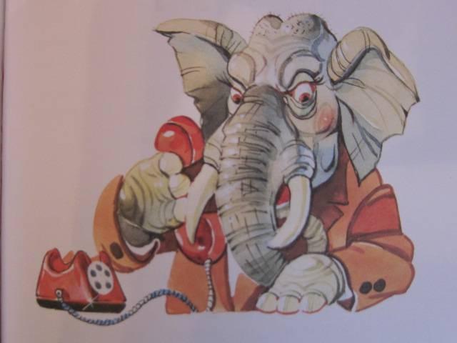 Слон с телефоном картинки