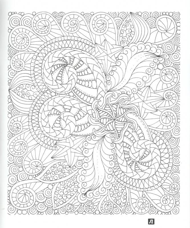 Иллюстрация 9 из 22 для Дзен-дудлинг. Успокаивающие узоры ...