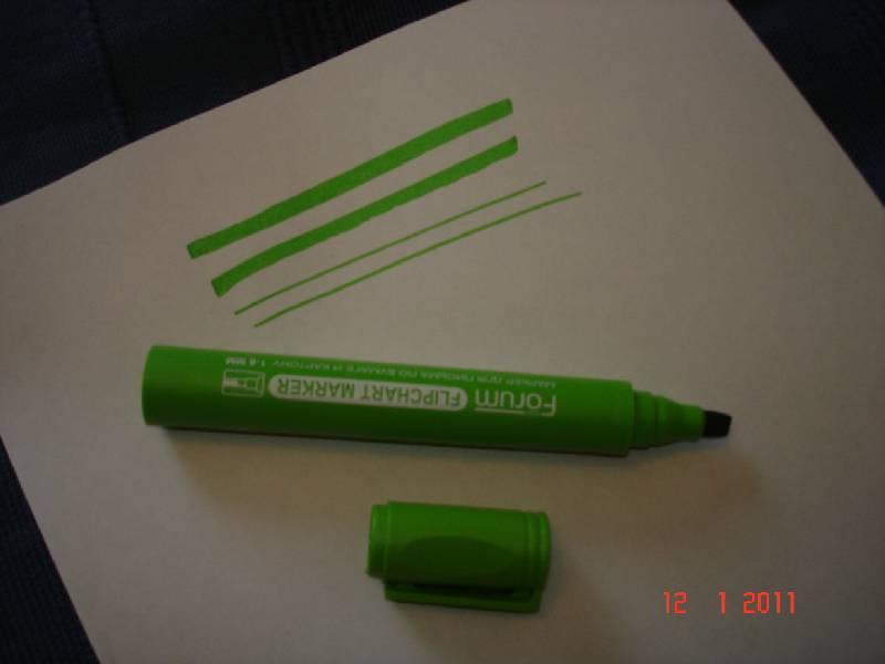 Иллюстрация 1 из 7 для Маркер водный зеленый клиновидный, с клипом (081-3)   Лабиринт - канцтовы. Источник: Щебнева Людмила Евгеньевна