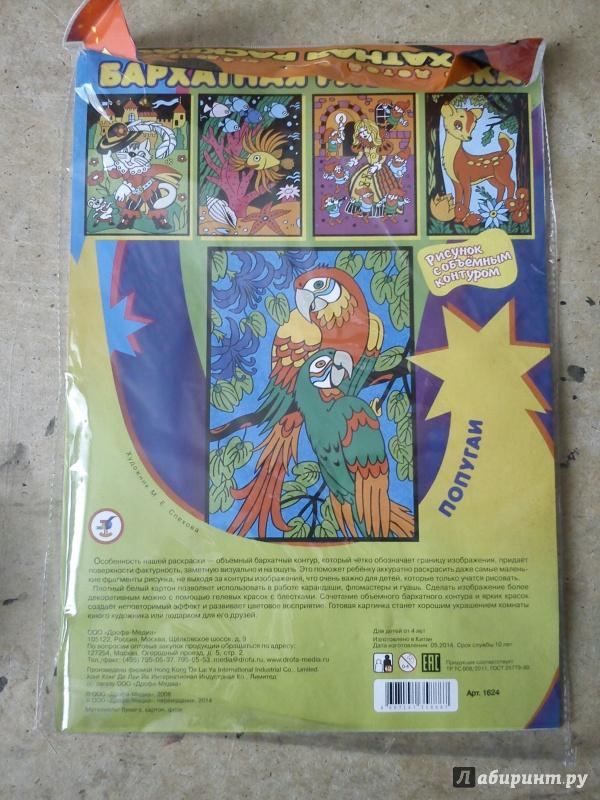 """Иллюстрация 7 из 13 для Бархатная раскраска """"Попугаи ..."""